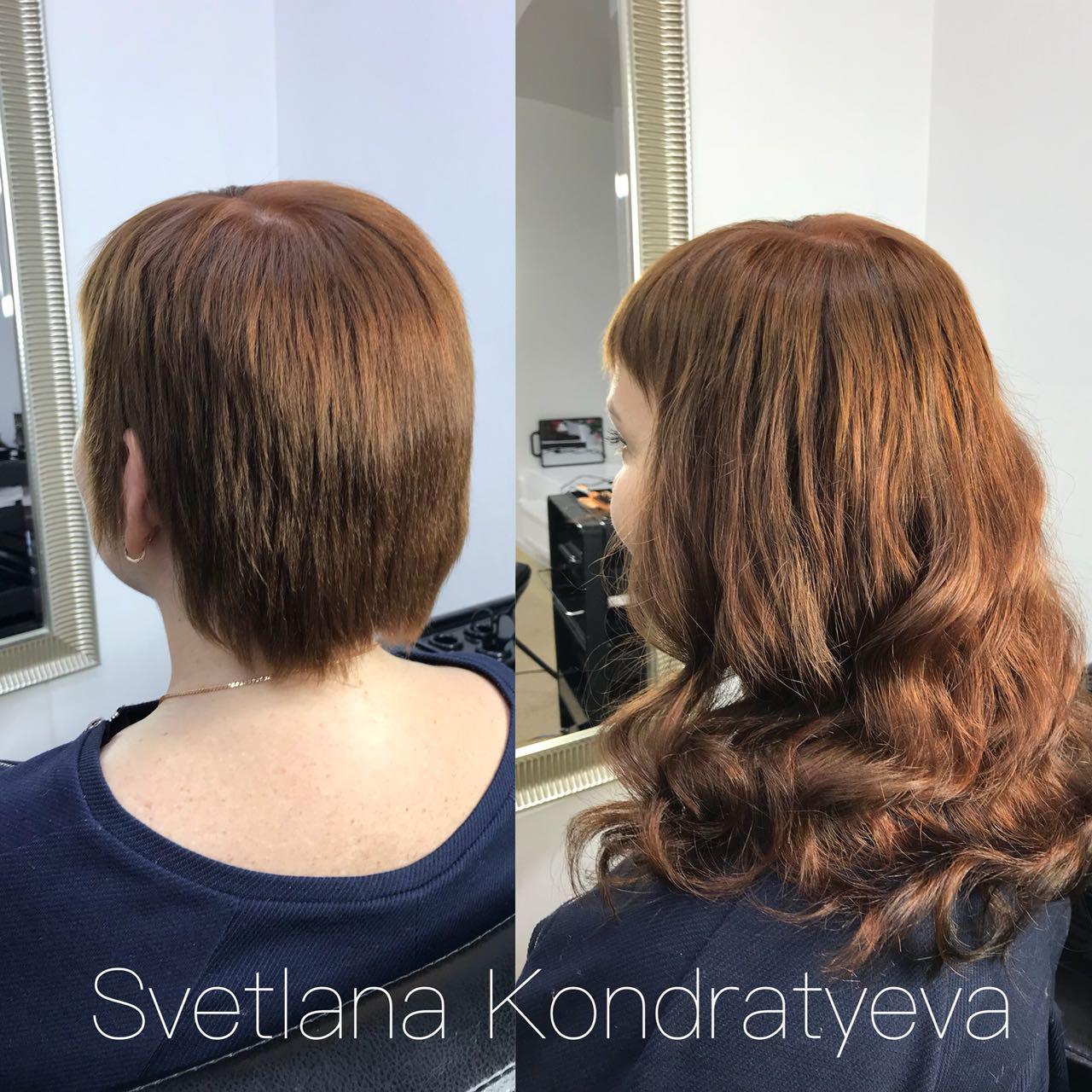 наращивание на короткие волосы