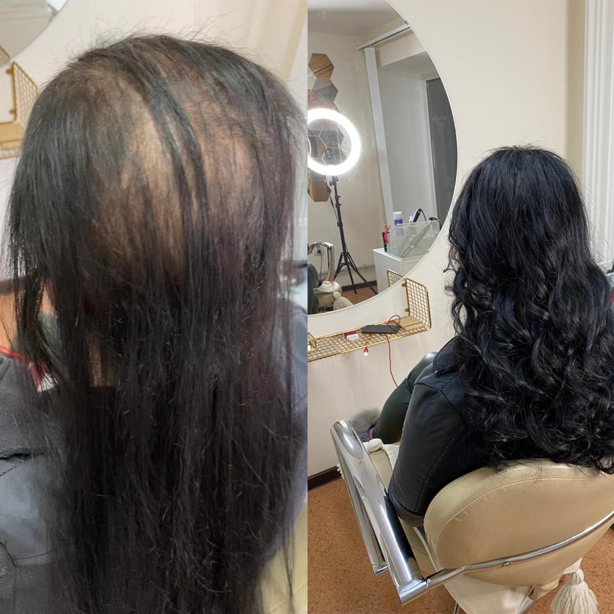 сложное наращивание волос на короткие волосы